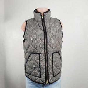 J Crew Womens Full Zip Quilted Vest Puffer Jacket